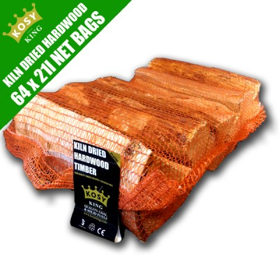 Kiln Dried Hardwood Timber (64 x 21L Bags)