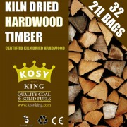 Kiln Dried Hardwood Logs (36 x 20L Bags)