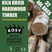 Kiln Dried Hardwood Logs (32 x 40L Bags)