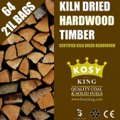 Kiln Dried Hardwood Logs (64 x 21L Bags)