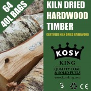 Kiln Dried Hardwood Logs (64 x 40L Bags)